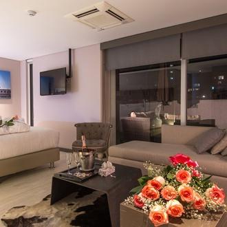 Plano romântico Hotel CITYFLATS